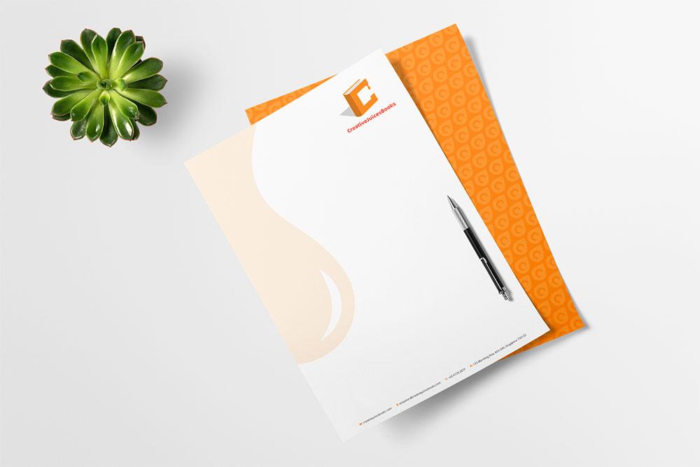 publication house branding letterhead design