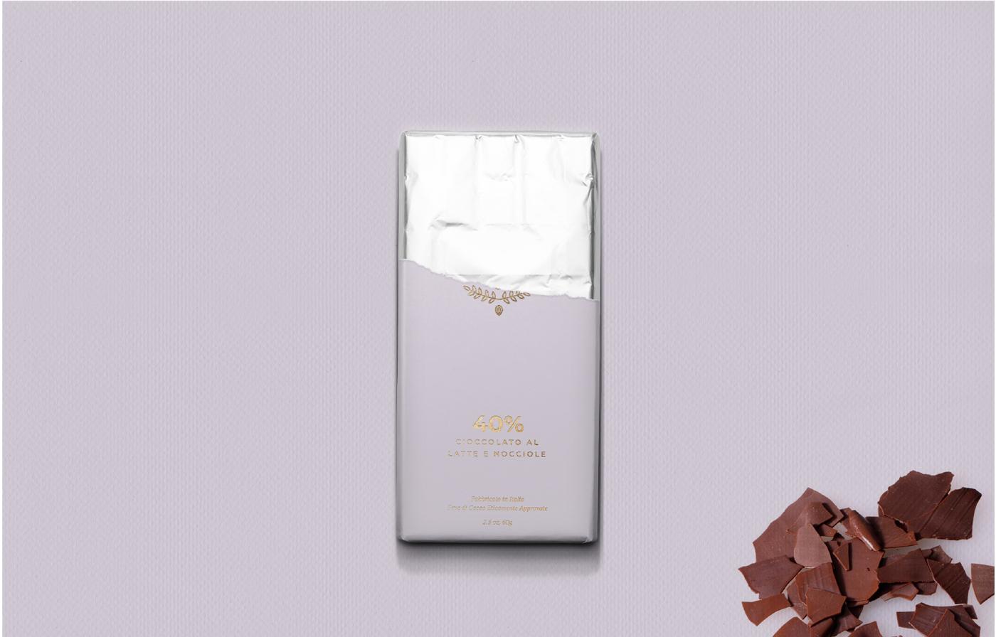 chocolate packaging purple mockup design