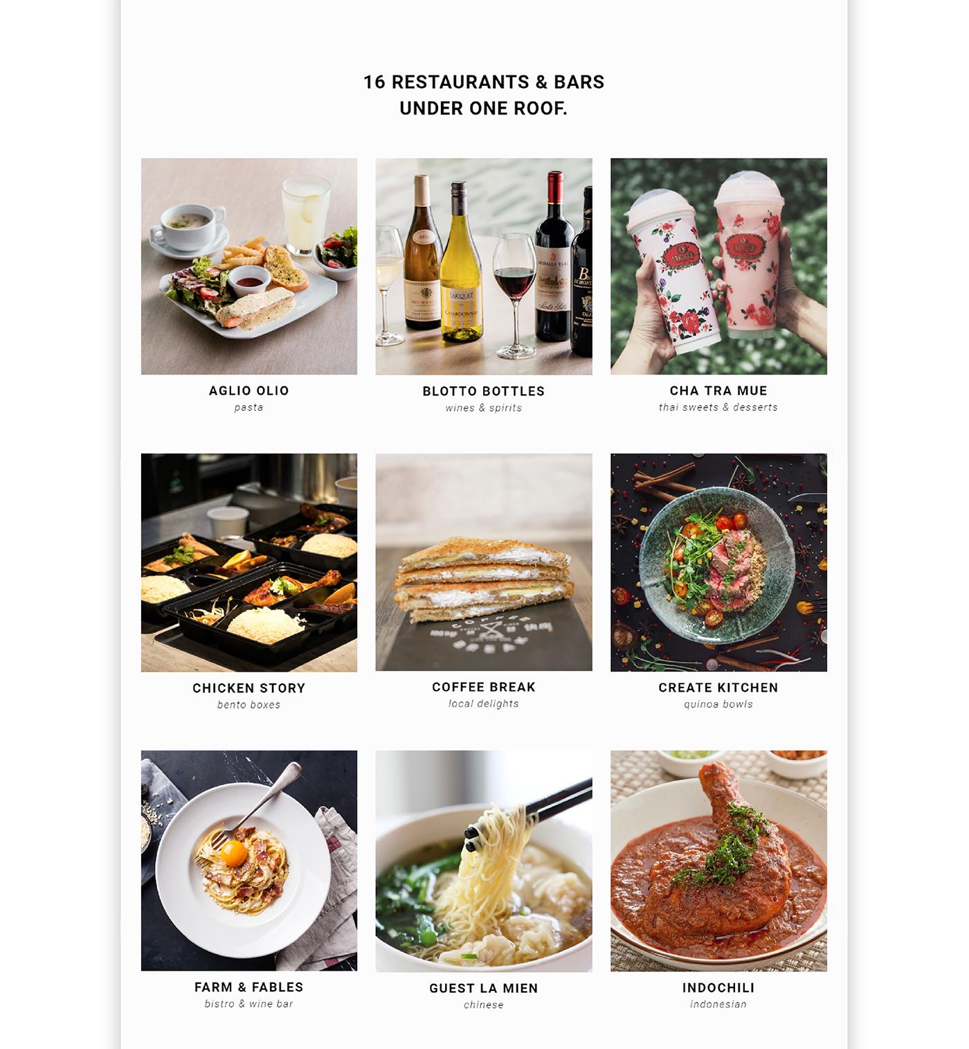 restaurant website design mockup
