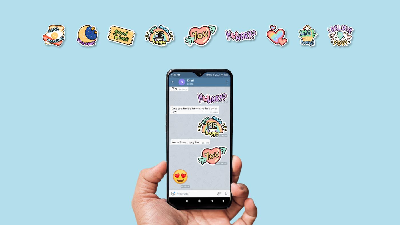 telegram sticker design