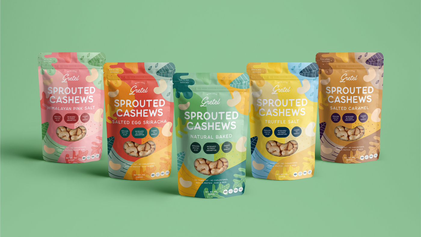 cashew nut standing pouch packaging