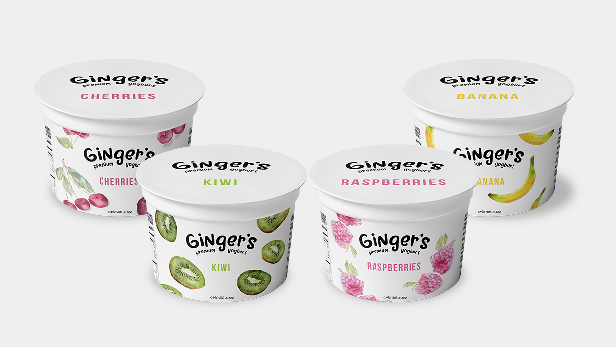 yogurt kiwi tub packaging mockup design
