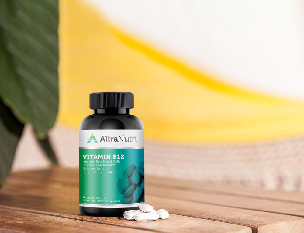 vitamin supplement b12 mockup design