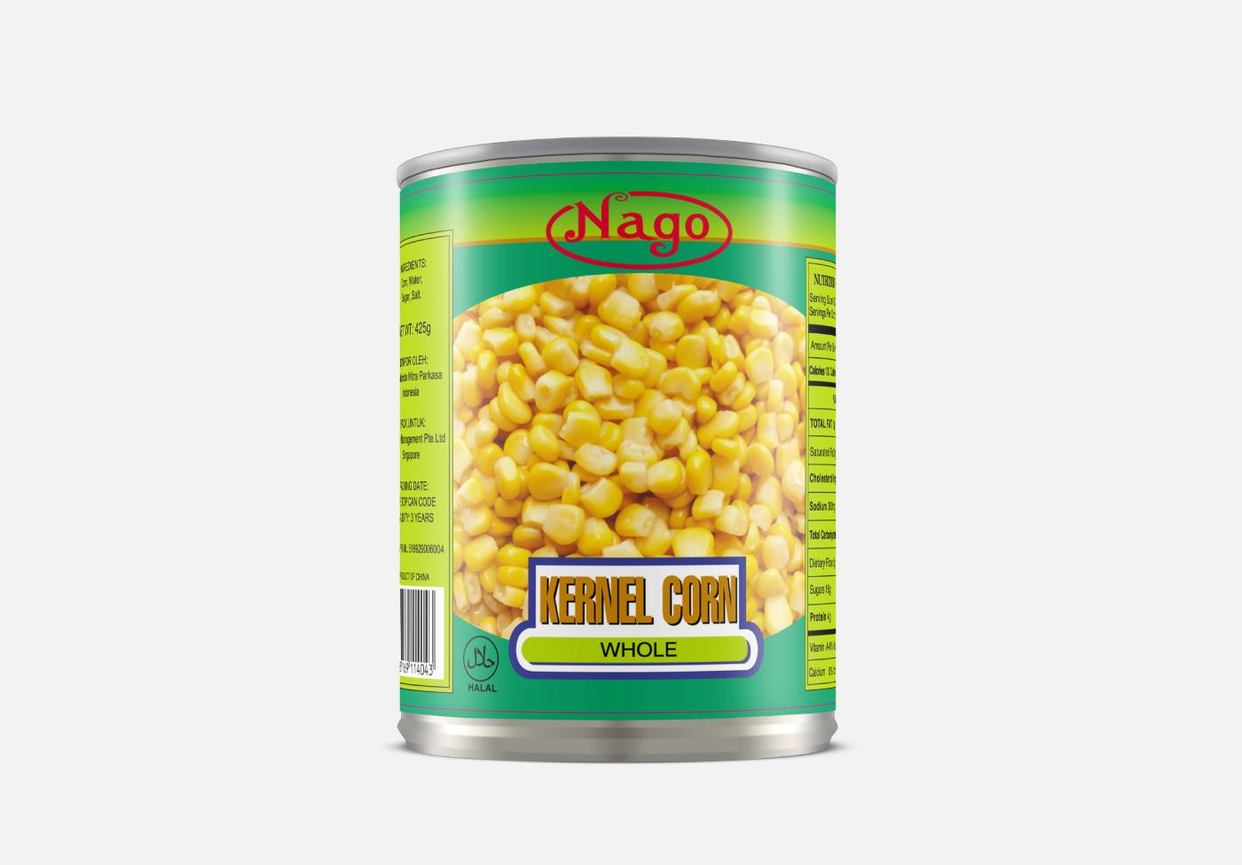 corn canned food packaging mockup